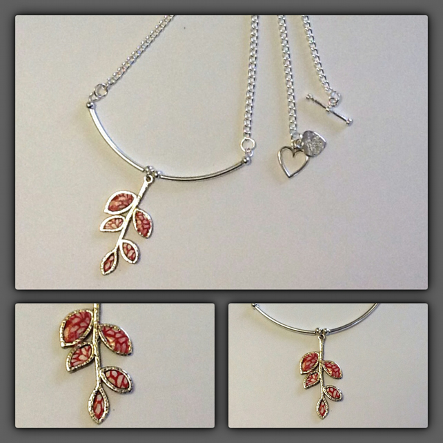 50% OFF - Contemporary Silver Plated Leaf Necklace