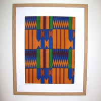 Hand Dyed Ghana Wax Print Fabric Picture - GW1