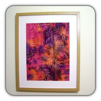Hand Dyed 'Langa Lapu' African Fabric Framed Picture - LL3