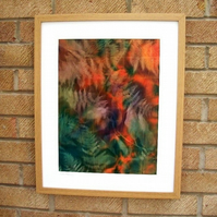 Hand Dyed 'Langa Lapu' African Fabric Framed Picture - LL1