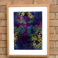 Hand Dyed Bali Batik Framed Picture - BB2