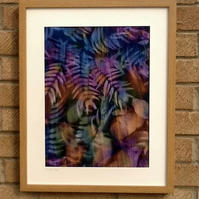 Hand Dyed 'Langa Lapu' African Fabric Framed Picture - LL5