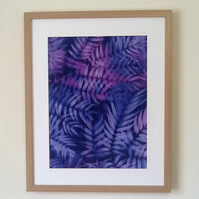 Hand Dyed 'Langa Lapu' African Fabric Framed Picture - LL7