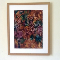 Hand Dyed 'Langa Lapu' African Fabric Framed Picture - LL6