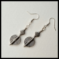 Tibetan Silver Contemporary Earrings