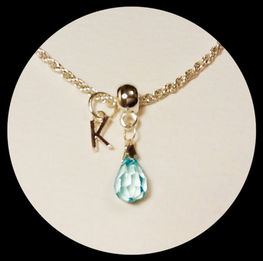 Personalised Teardrop Charm Necklace