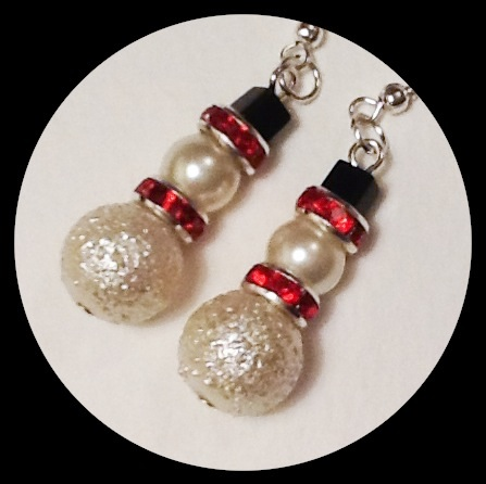 'SNOWMAN' Christmas Earrings