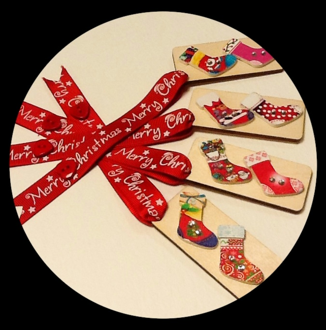 Wooden Christmas Decorations - Set A