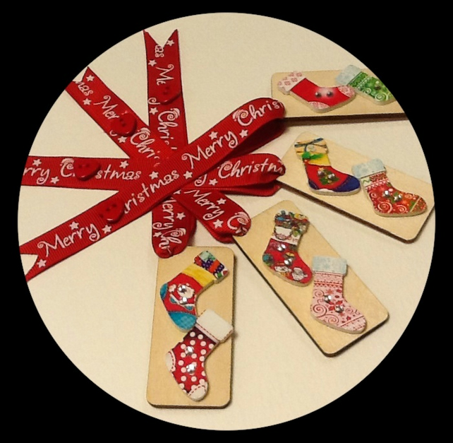 Wooden Christmas Decorations - Set B