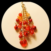 Red & Gold Bag Charm