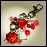 'Hearts & Flowers' Bag Charm