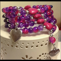 Gemstone Hearts Bracelet
