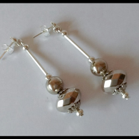 Statement Silver Plated Earrings