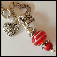 Red Lamp Work Bag Charm