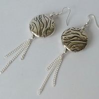 Silver Plated Contemporary Earrings
