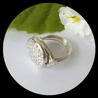 Handmade Contemporary Silver Plated Ring Size N by Cool Creations