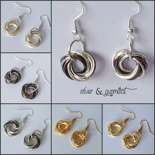 Multi Choice Spiral Rose Earrings