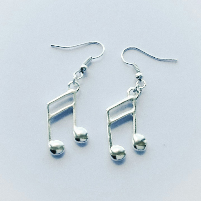 Music Lover's Silver Plated Earrings