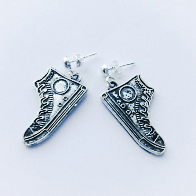 Converse Silver Plated Earrings