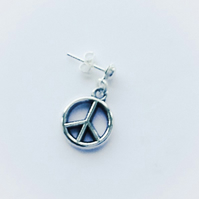 Men's Single Peace Symbol Earring