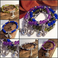 Four Colours Meditation Bracelets Handmade by Cool Creations