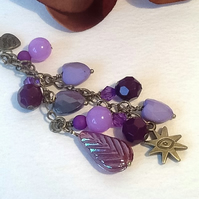 Purple Heart Handbag Charm