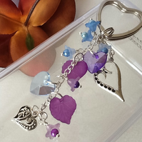 Hearts & Flowers Keyring