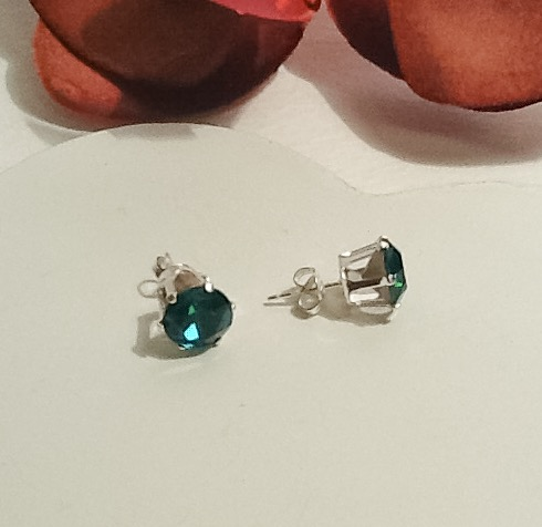 Sterling Silver Swarovski Crystal Earrings