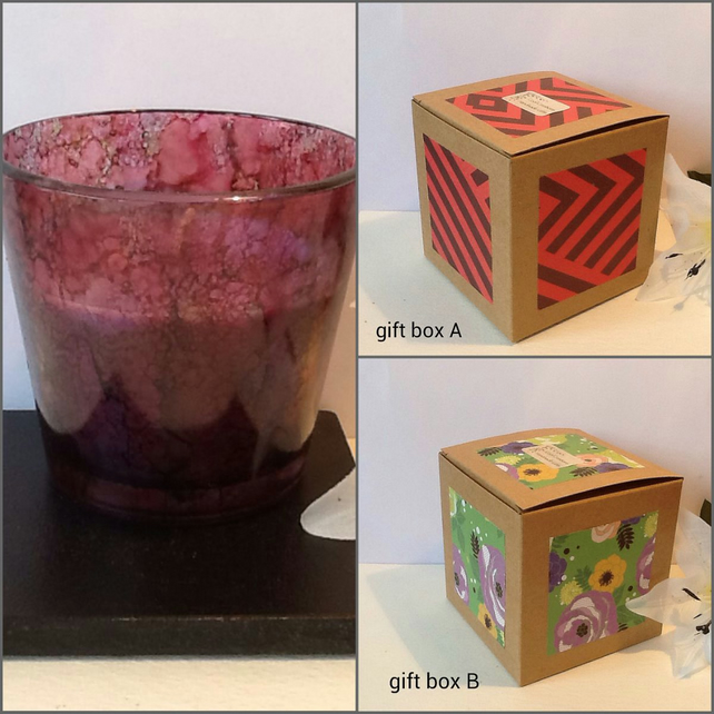 GRAPE & BLUEBERRY Hand Decorated Jar Candle