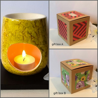 Marble Effect Hand Decorated Oil Burner