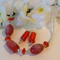 'Sugared Jelly' Necklace and Earrings Set