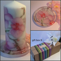 Unique Hand Decorated Candle Gift Set Gift Boxed for Christmas Birthday Gift