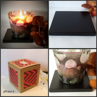 Unique Hand Decorated Jar Candle Gift Set Gift Boxed for Christmas Birthday Gift
