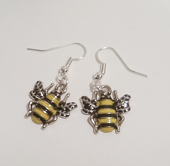 Two Busy Bees Earrings by Cool Creations