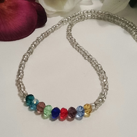 Go with Everything Crystal Necklace with Magnetic Clasp by Cool Creations