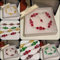 Four Colours Adjustable Crystal Bracelet Handmade by Cool Creations