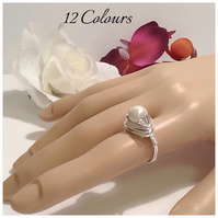 Twelve Colours Handmade Pearl Ring