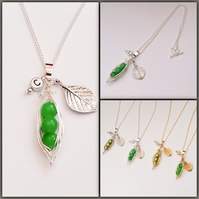 Silver Plated Pea Pod Necklace
