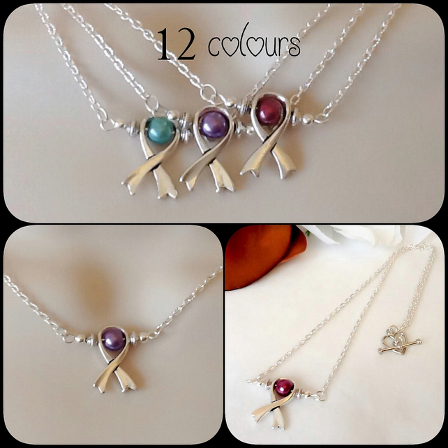 Twelve Colours Birthstone Pearl 'Hope' Pendant Necklace by Cool Creations
