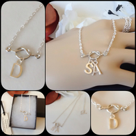 Love Knot Initial Personalised Family Pendant Necklace by Cool Creations