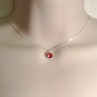 Sterling Silver Swarovski Birthstone Necklace by Cool Creations Birthday Gift