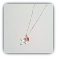 Sterling Silver Birthstone Necklace with Swarovski Crystal Drop Gift Boxed Gift