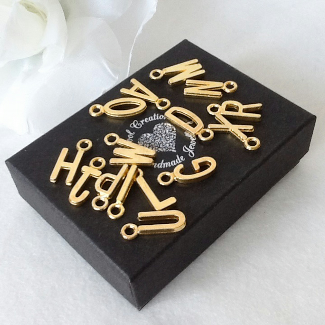 Add-On Personalised Gold Plated Initial Alphabet Charm