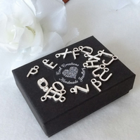 Add On Personalised Silver Plated Alphabet Initial
