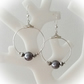 Silver Plated Hooped Earrings with Crystals & Pearls Gift Boxed Birthday Xmas