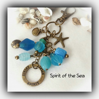 Spirit of the Sea Turquoise & Bronze Bag Charm Gift Boxed Christmas Girlfriend