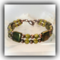 Metallic Olive & Copper Bracelet Gift Boxed for Christmas Birthday Mum Gift
