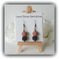 Pink & Black Lava Stone Earrings Gift Boxed for Christmas Birthday Girlfriend
