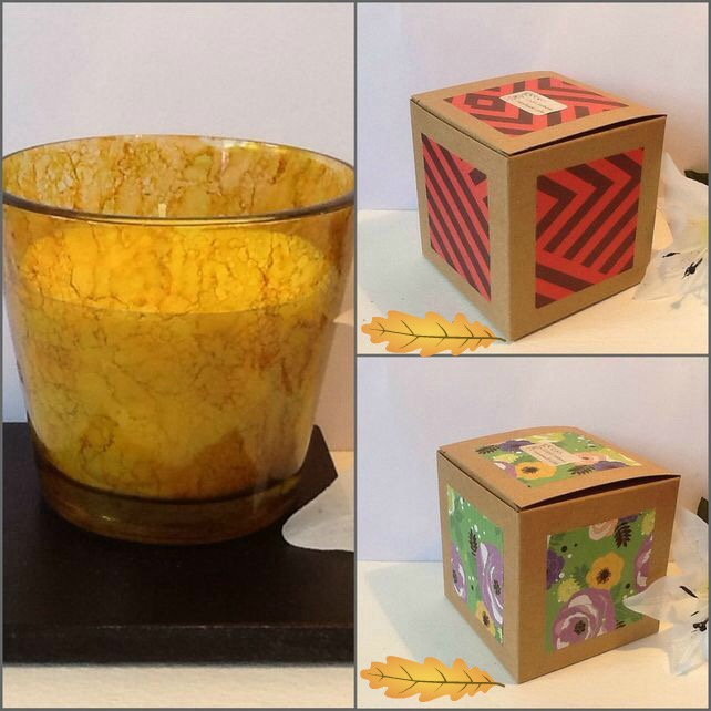 LEMON SQUEEZE Unique Hand Decorated Jar Candle Gift Boxed Gift