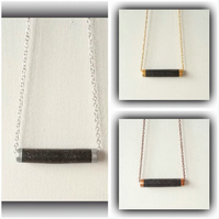 Contemporary Black Necklace in 3 Finishes Gift Boxed for Christmas Birthday Gift